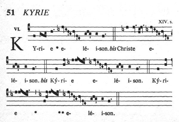 chant kyrie eleison